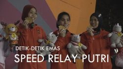 VIDEO | Detik-detik Emas Tim Relay Putri