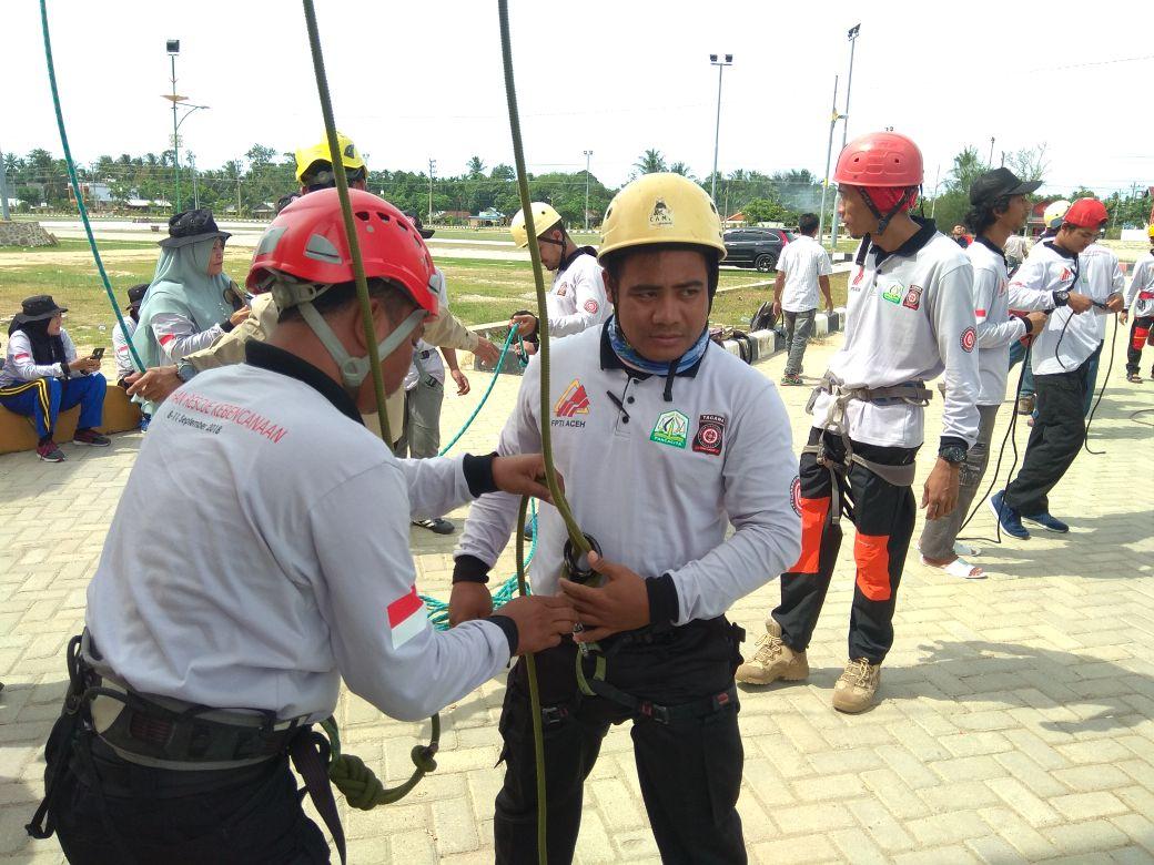 Pelatihan Rescue Kebencanaan 2018 di Idi Rayeuk, Aceh Timur, 8-11 September 2018. (Asep Serpa)
