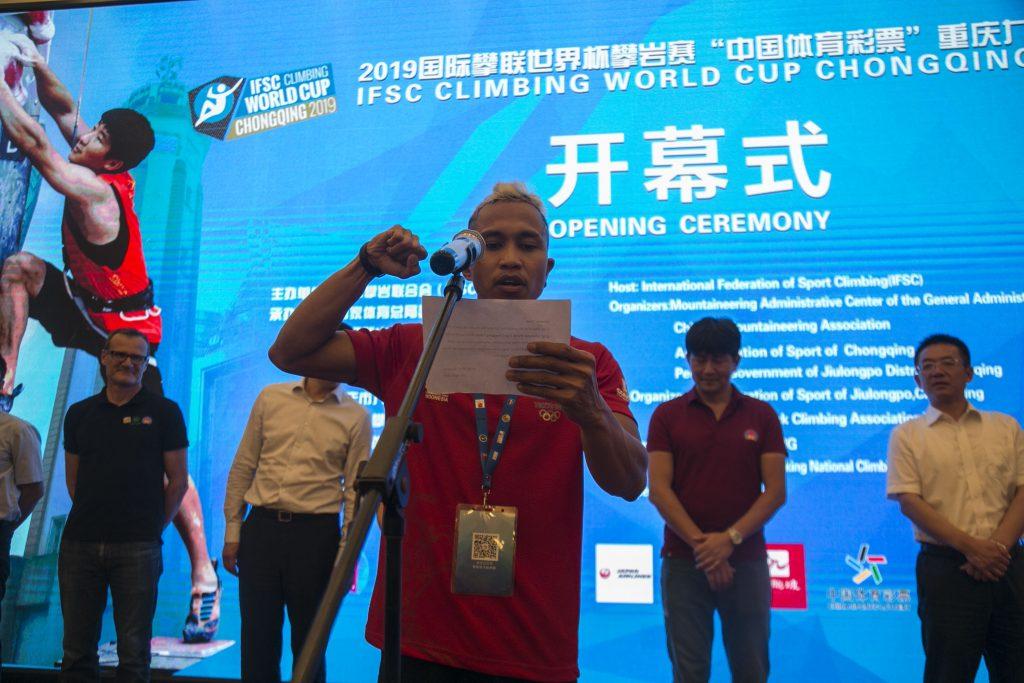 FOTO   Pembukaan IFSC Climbing World Cup Chongqing, China