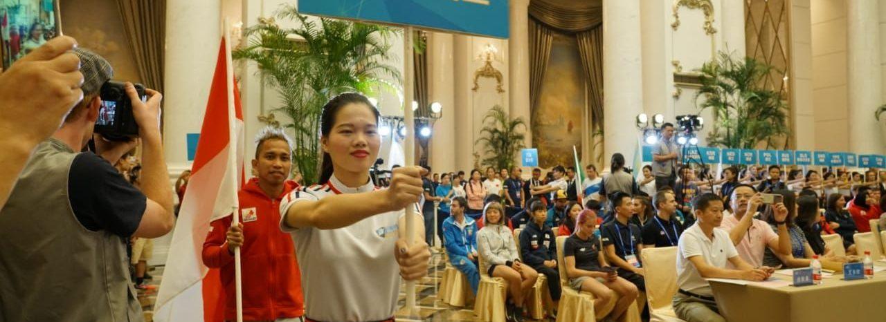 IFSC Climbing Worldcup di Xiamen - Opening Ceremony, Jumat (18/10/2019)
