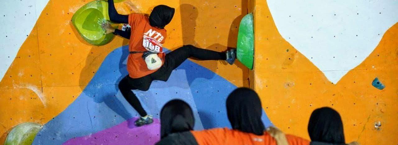 PRA-PON XX Zona 3 - Final Boulder Tim Putri, Jumat (15/11).